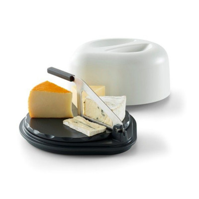 Cheese Serving Box with Knife | White