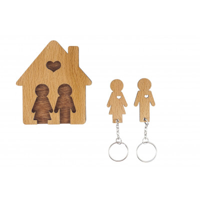Keyholder with Set of Keychains   Boy & Girl
