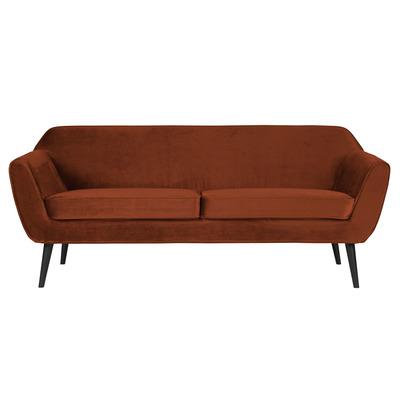 3-Sitzer-Sofa Rocco Samt |  Rust