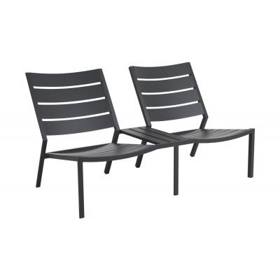 Sofa Zweisitzer Delia | Grau