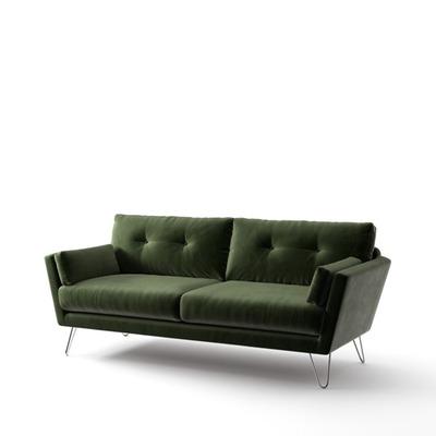 3-Sitzer-Sofa Tido   Flaschengrün