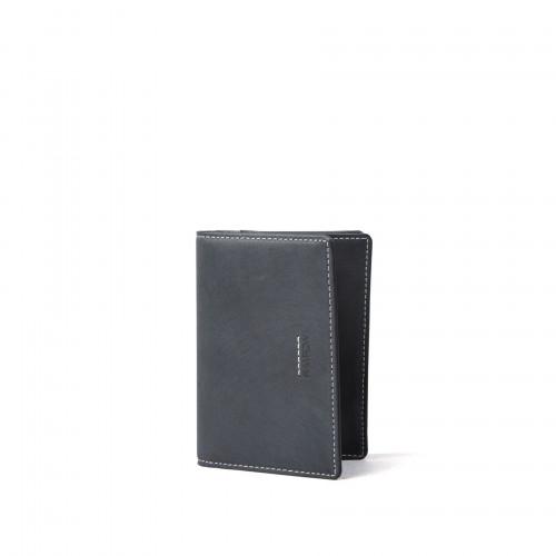 R Wallet 140 Wax Leather   Black