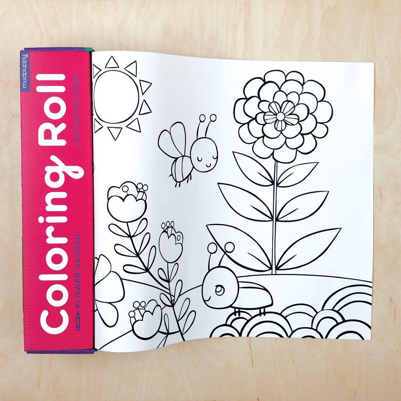 Colouring Roll | Flower Garden