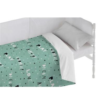 Bettbezug für Kinderbett Awesome I Grün 100x120 + 50x30 cm