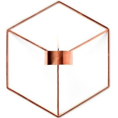 Candle Holder POV Wall | Copper