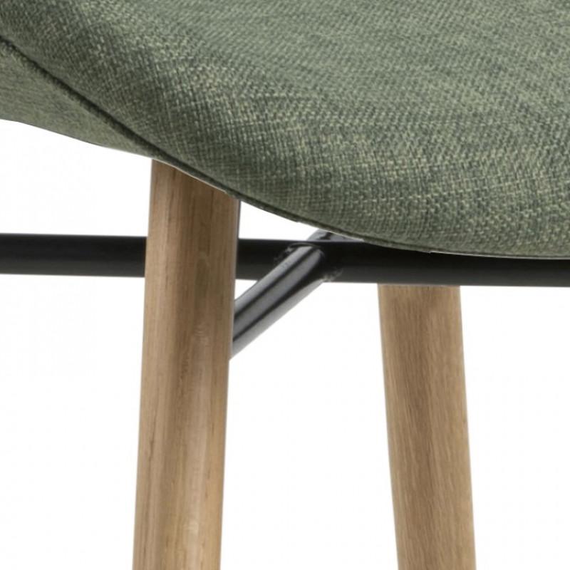 Set of 2 Chairs Matilda-A1 | Green & Wood