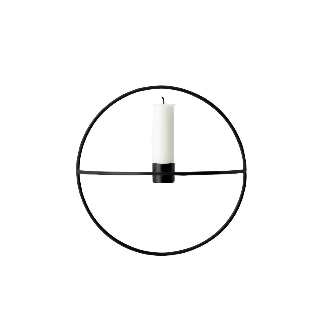 Kerzenständer POV Kleiner Kreis | Schwarz