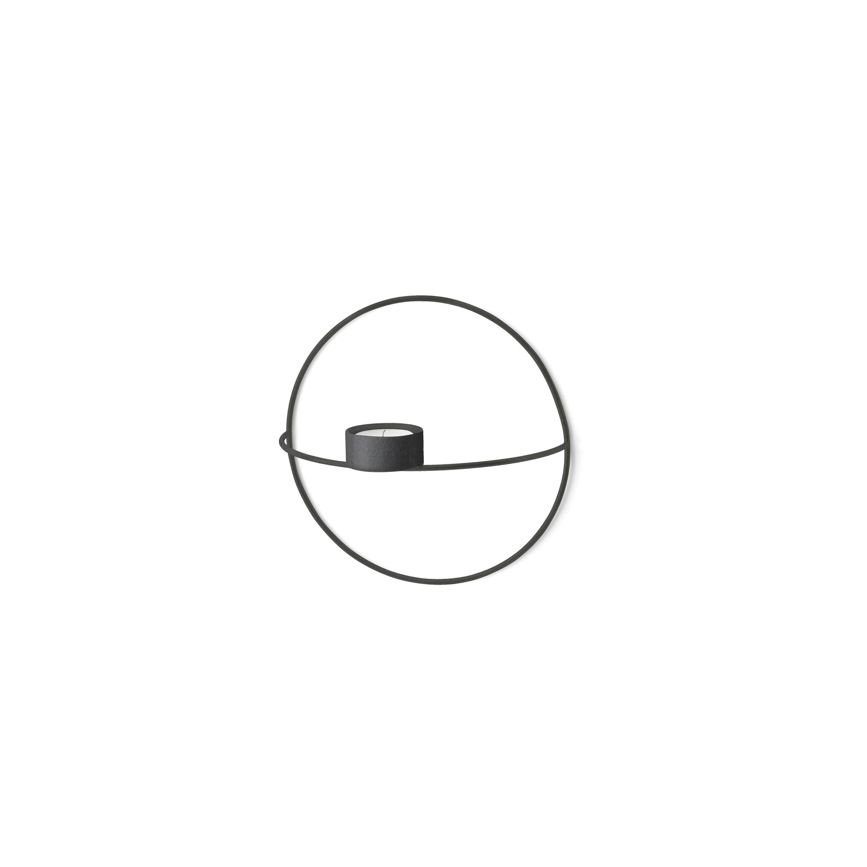 Teelichtkerzenhalter POV Kleiner Kreis   Schwarz