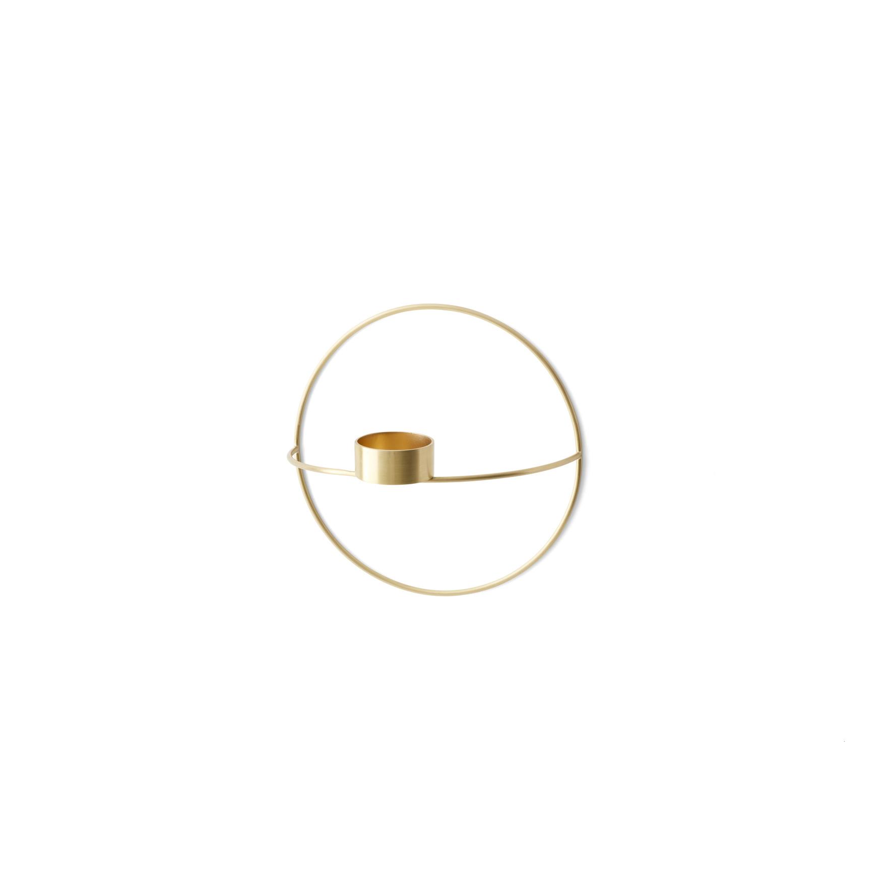 Teelichtkerzenhalter POV Kleiner Kreis   Gebürstetes Messing