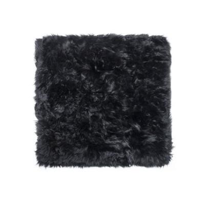 Quadratischer Schafwollteppich   Schwarz