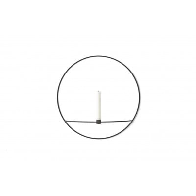 Kerzenständer POV Großer Kreis | Schwarz