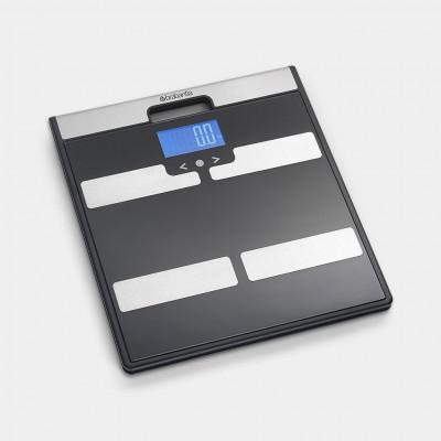 Badezimmerwaage batteriebetrieben | Schwarz