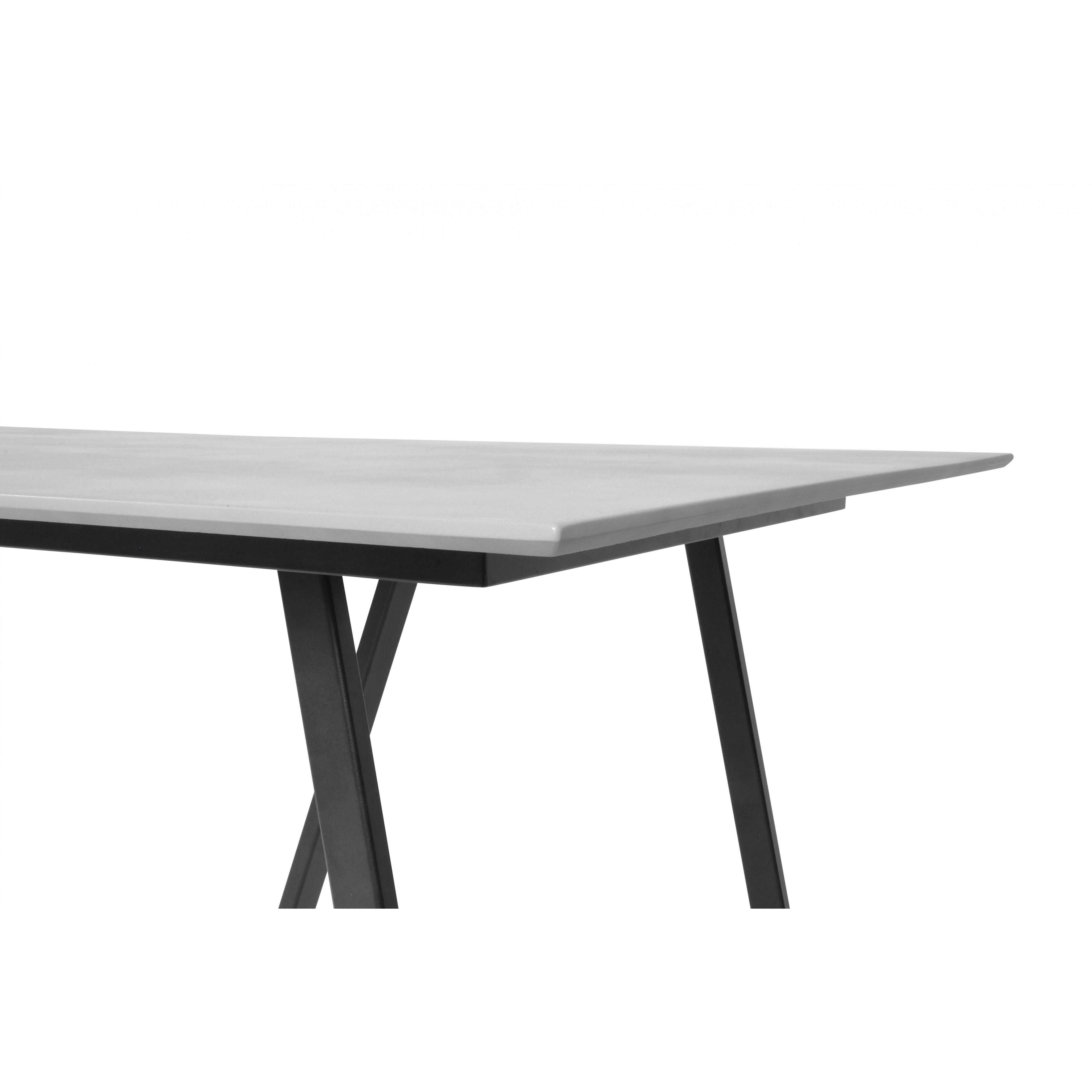 Gartentisch | Schwarz / Betonfarbe