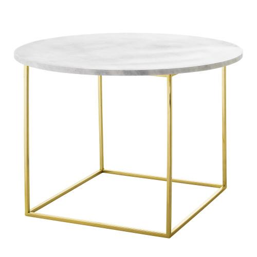 Coffee Table Eva   Marble   White