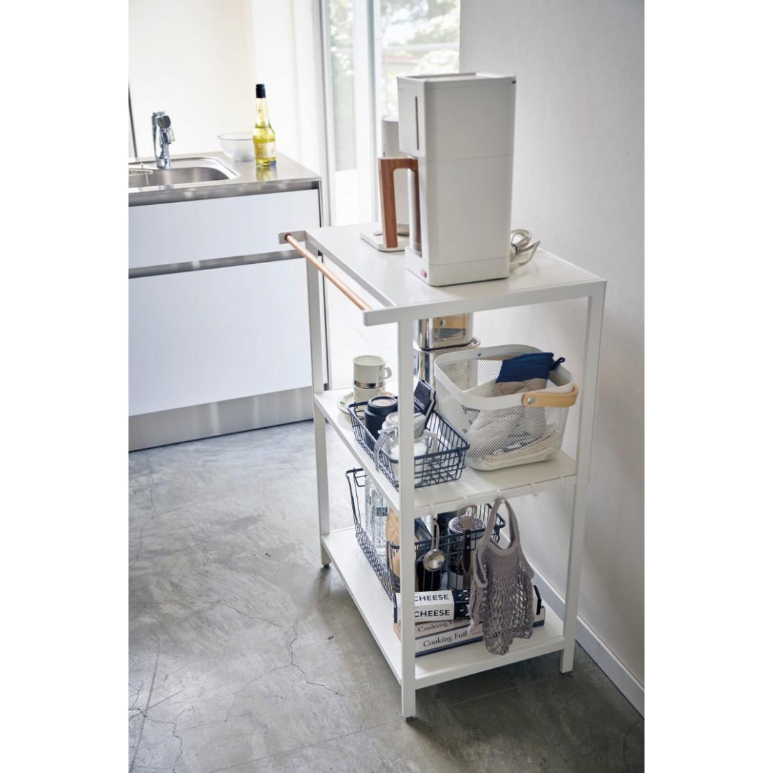 3-Tiered Storage Rack Tower | White