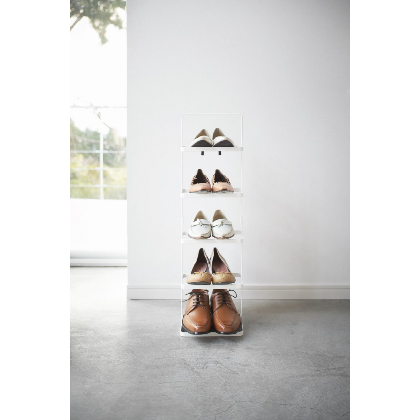 Shoe Rack Small Tower | White
