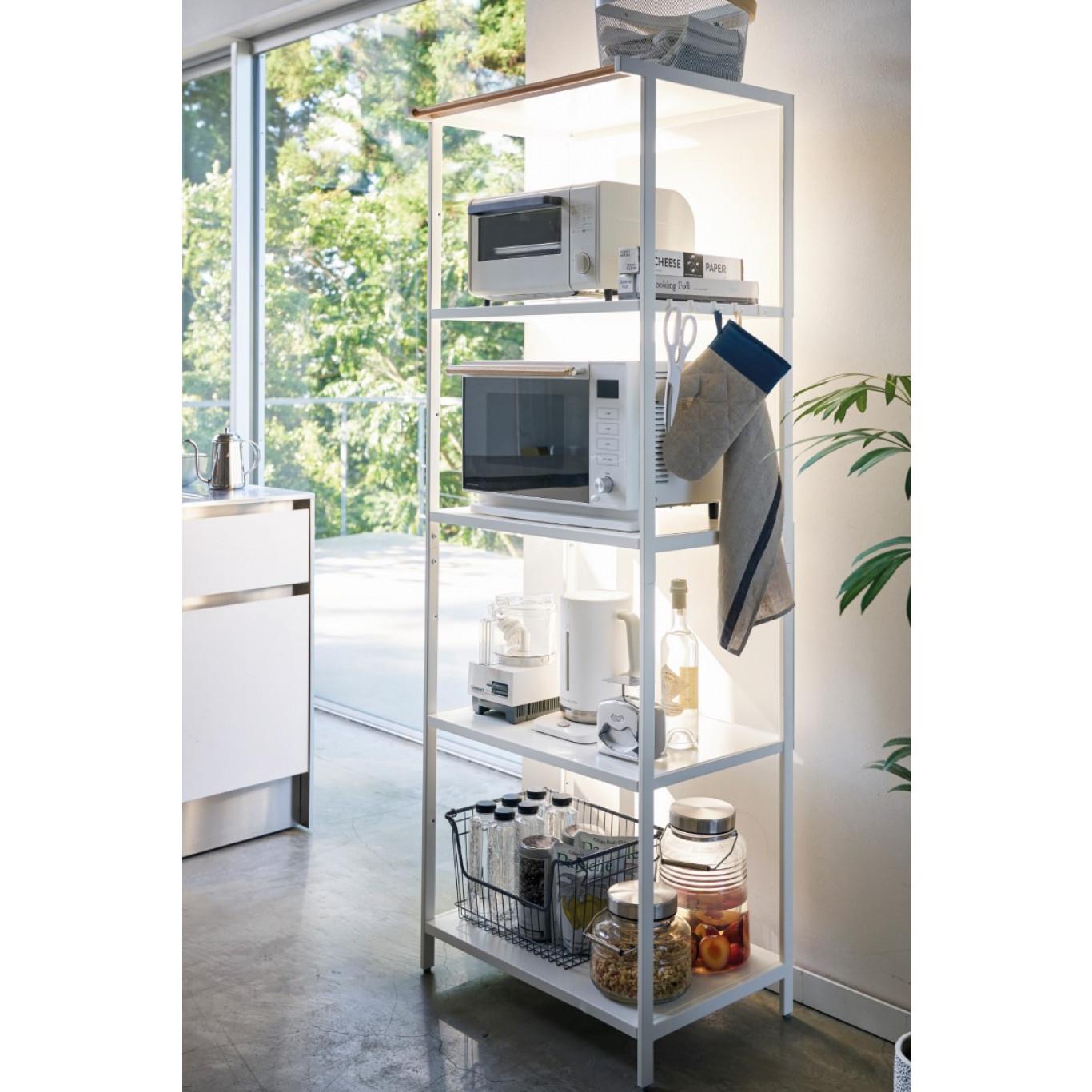5-Tiered Storage Rack Tower   White