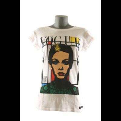Twiggie T-Shirt Women Round- White