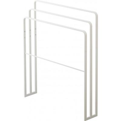 Porte-Serviettes de Bain avec 3 Bars Tower | Blanc