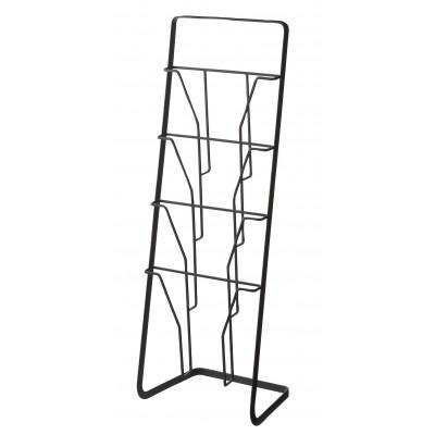 Magazine Stand Tower 4 Folders | Black