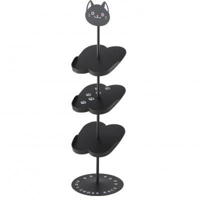 Shoe Rack for Kids Cat | Black