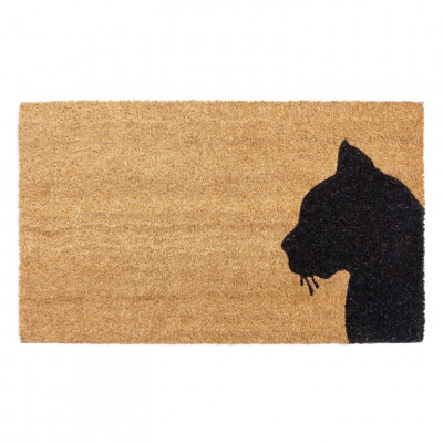 Outdoor-Fußmatte Katze | Braun