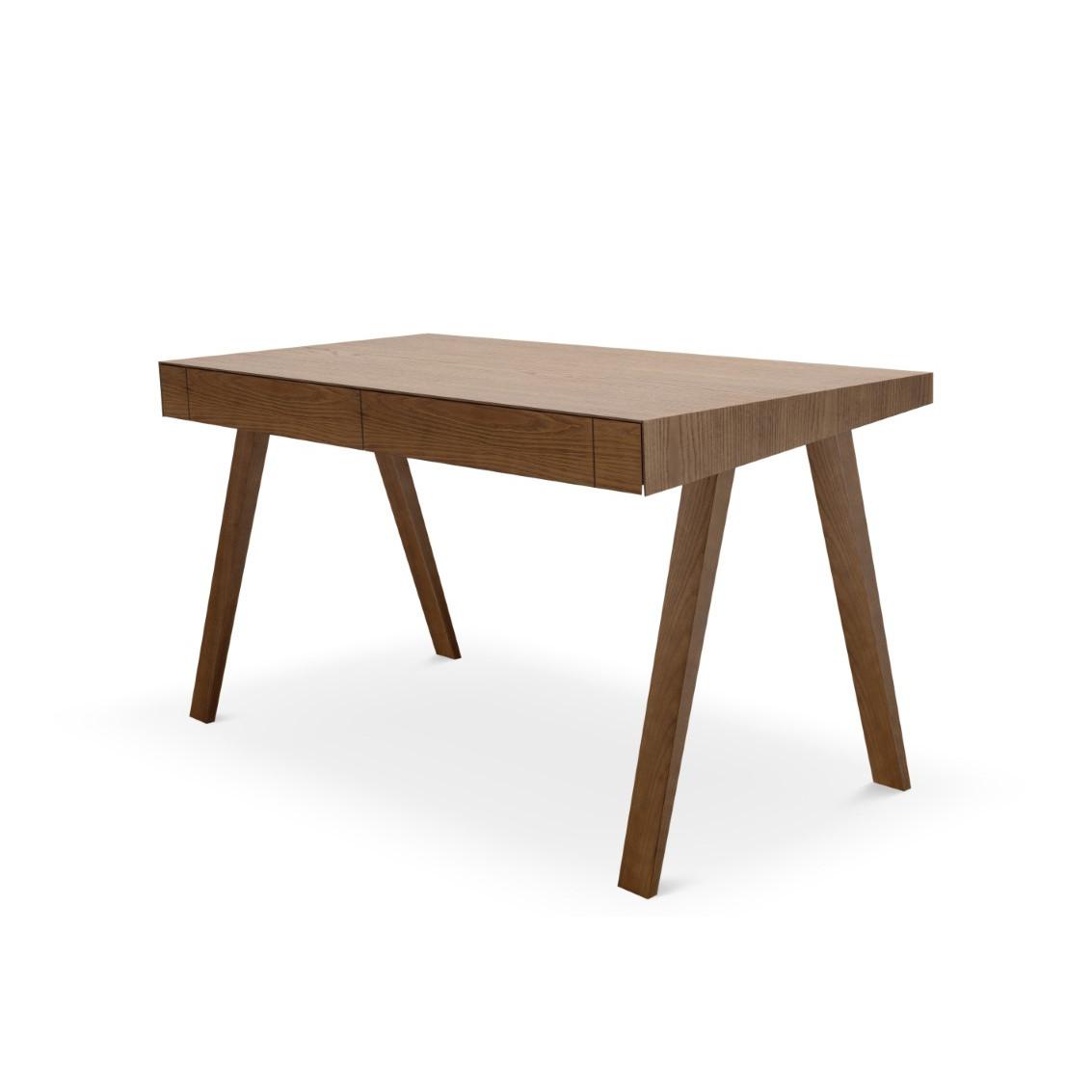 Schreibtisch 4.9 mit 2 Schubladen   Braun