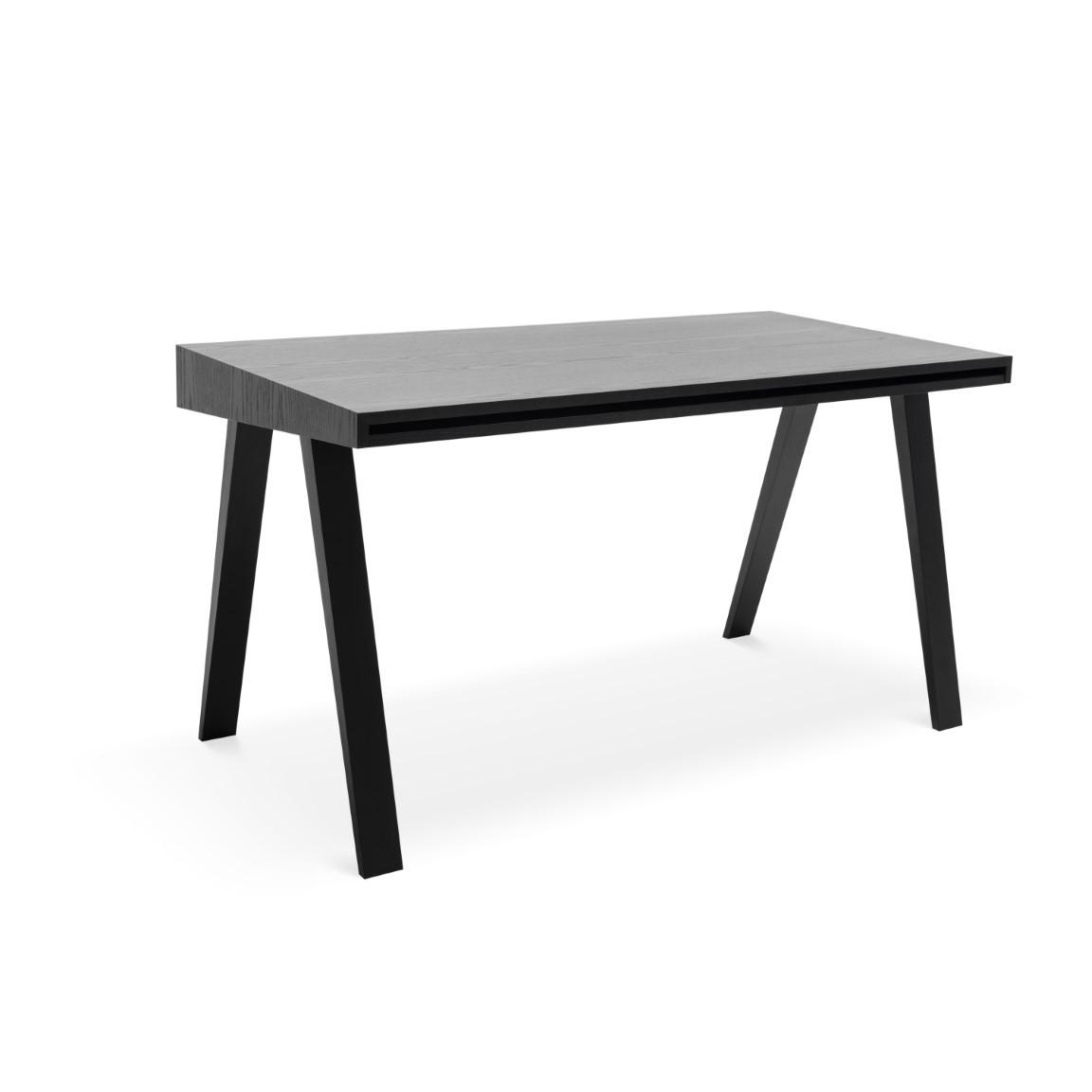 Schreibtisch 4.9 mit 2 Schubladen | Schwarz