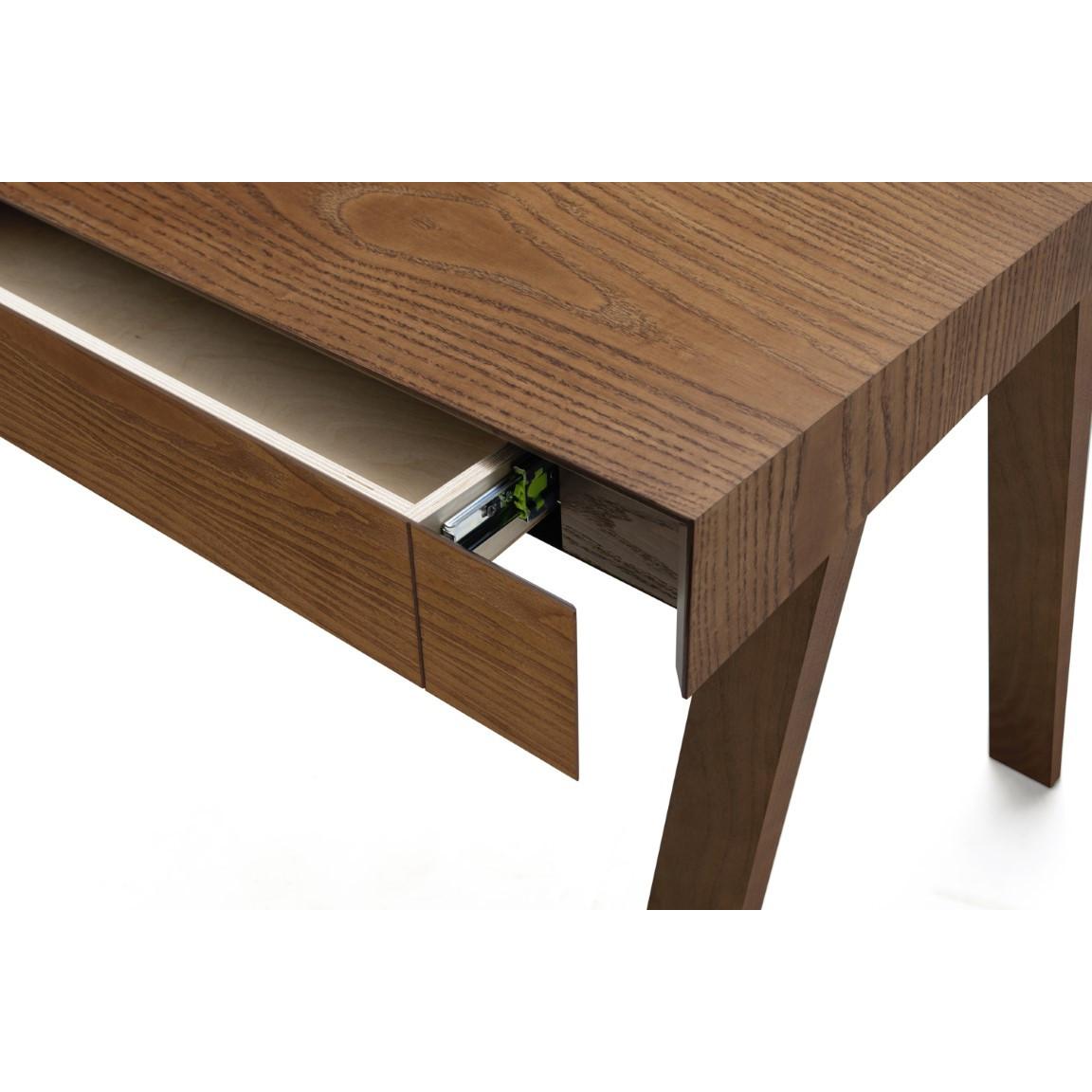 Schreibtisch 4.9 mit 1 Schublade   Braun