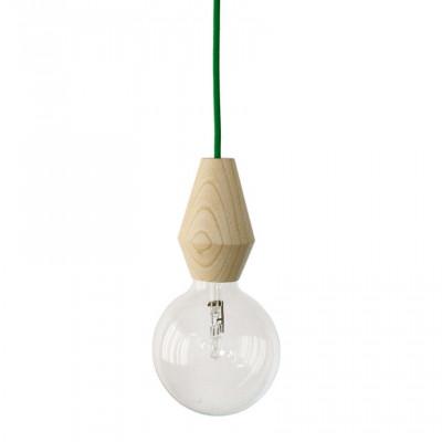Weibliche Lampe - grünes Kabel