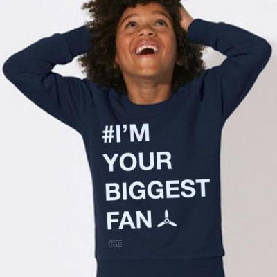 Kid's Sweater # I'M YOUR BIGGEST FAN   Blue
