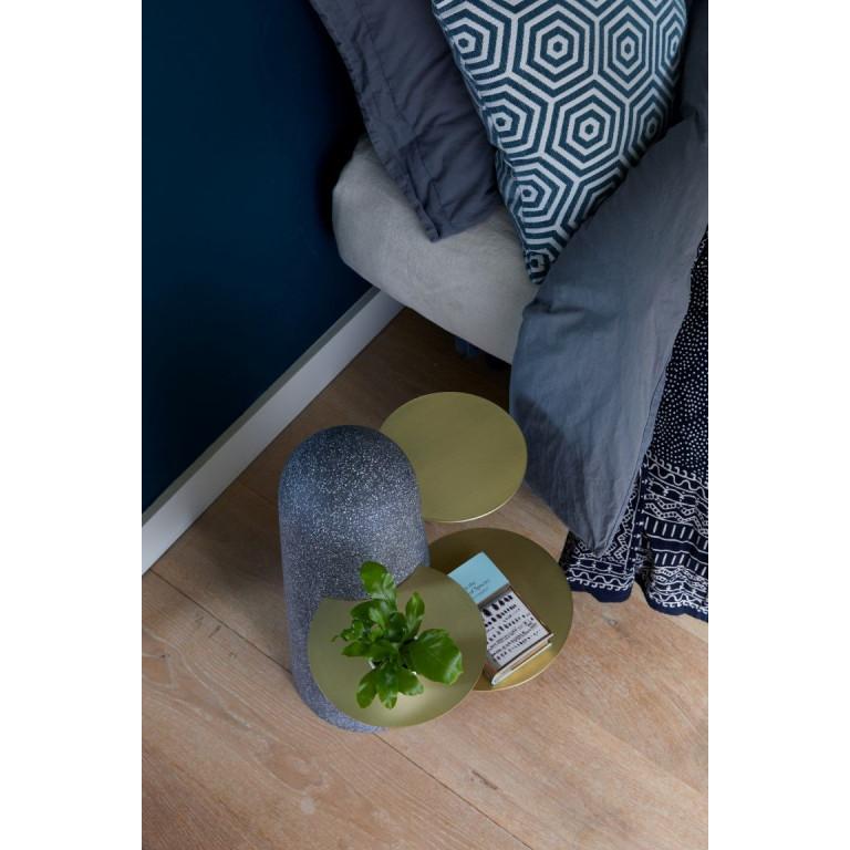 BoBo Sidetable | Dark Terrazzo with Wooden Leaves