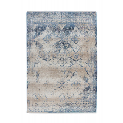 Teppich Antigua 500 | Creme - Blau