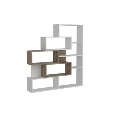 Bücherregal Marla | Weiß Walnuss