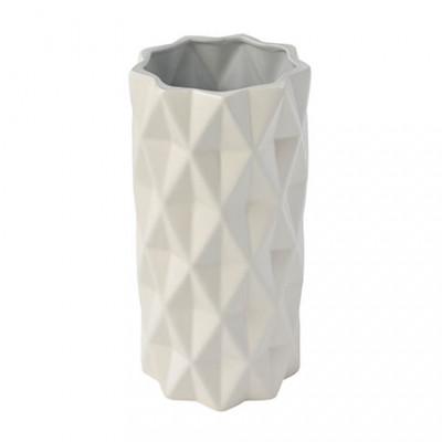 Vase Parker Groß   Weiß & Grau