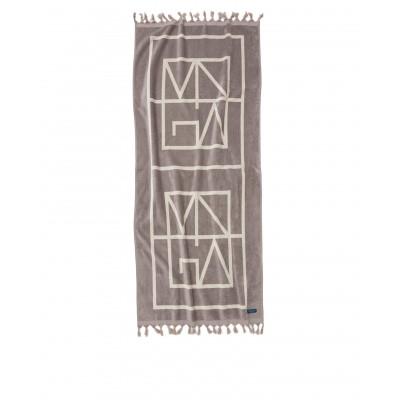 Strandtuch Monogram   Grau