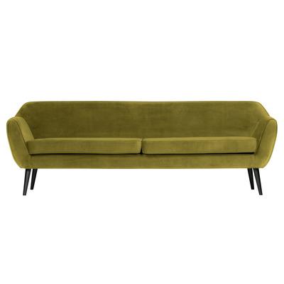 4-Sitzer-Sofa Rocco Samt | Olivgrün