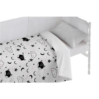 Bettbezug für Kinderbett Sweet Dreams I Weiß 100x120 + 50x30 cm