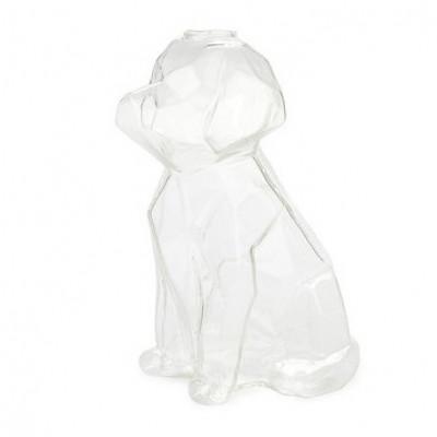 Vase Sphinx Hund 23 cm   Transparent