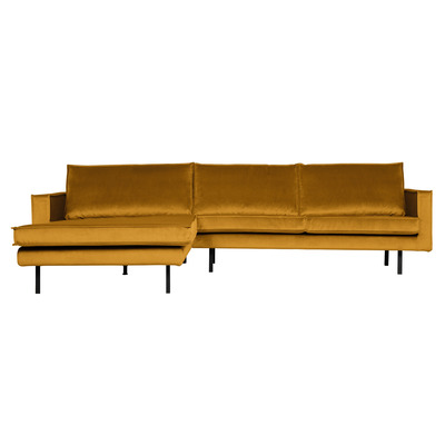 Chaise Longue Links Rodeo Samt | Gelb