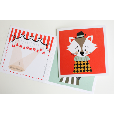 2 Sets of 3 Marionette Cards Serie II