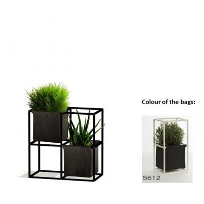 Modulares Pflanzengestell 4x Schwarz + 2 Anthrazit Taschen