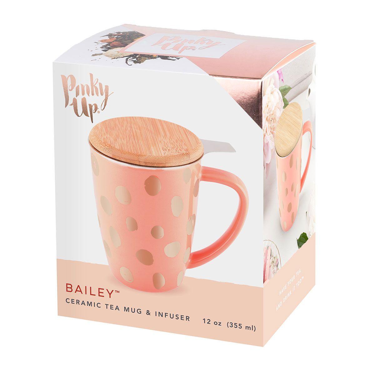 Bailey Peach & Copper Tea Mug and Infuser