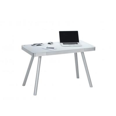 Computertisch 5000 | Metall Alu / Weißglas