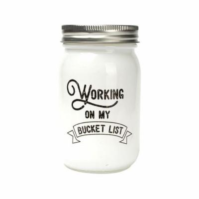 Glass Jar | Working on my Bucket List