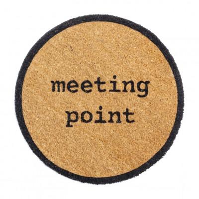 Outdoor-Fußmatte Meeting Point | Braun