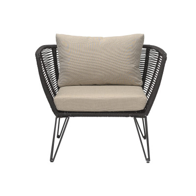 Garten-Lounge-Stuhl Mundo | Schwarz
