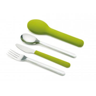 Kompaktes Besteck GoEat | Grün