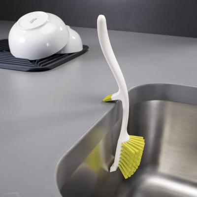Dish Brush + Sink Support Edge | White