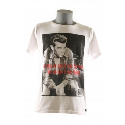 Dean T-Shirt Men Round- White